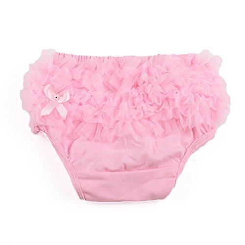 SODIAL(R) rosa Baby Maedchen Ruesche Hoeschen Pumphose Windel decken S Kinder Mädchen Höschen