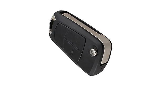 Qiilu 2-Button Car Remote Control Key Fob 433Mhz ID46 Chip for Opel Astra J Corsa E Insignia 5WK50079