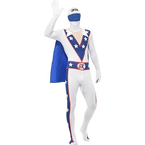 Herren Kostüm Evel Knievel Second Skin Karneval Fasching (Knievel Für Kostüme Evel Halloween)