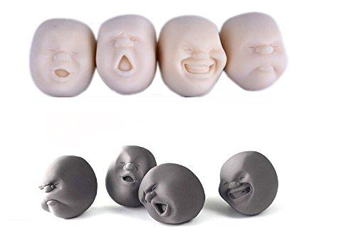 Vent-stress-ball (Neues Gesicht Emotion Vent Ball Spielzeug Resin Menschliche Puppe CAOMARU Erwachsene Stress-Anti-Stress-Neuheit Geschenk Schwarz Entlasten entspannen)