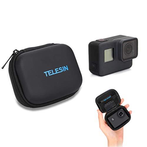 Für GoPro Tasche, Schutz Mini Aufbewahrungstasche für GoPro Hero 7 6 5 4 3 2018 Session Tragbares Reisen PU Leder wasserdichte Schwarz Tasche für GoPro Zubehör -