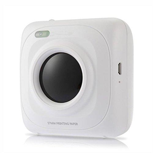 ZGWSR Portable Drucker klein Bluetooth 4,0 Foto Drucker Fotodrucker für Smartphoner 1000 mAh Lithium-ionen Teig - Bluetooth Foto-drucker Portable