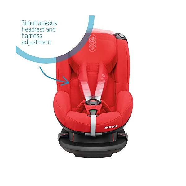 Maxi-Cosi Tobi Toddler Car Seat Group 1, Forward-Facing Reclining Car Seat, 9 Months-4 Years, 9-18 kg, Nomad Red Maxi-Cosi Forward facing group 1 car seat suitable for children from 9 to 18 kg (approx. 9 months to 4 years) Install with a 3-point car seat belt, with clear and intuitive seat belt routing High seating position allows toddler to watch outside the window 3