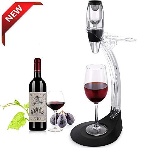 TOMORAL Ensemble cadeau de luxe pour aérateur de vin - Ensemble d'accessoires pour le vin avec carafe d'aérateur de vin, tour de rangement, meilleur cadeau pour amateur de vin et passionné de vin