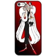 Generic Cell Phone Case for Funda iphone 5 5S SE Black Cruella de Vil 101 Dalmatians G7V3UD
