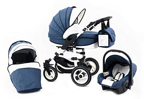Tabbi ECO LN | 3 in 1 Kombi Kinderwagen | Luftreifen | Farbe: Blue