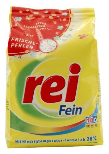 """Rei """"Fein mit Frischeperlen"""" Compactpulver 18 Waschladung 900g"""