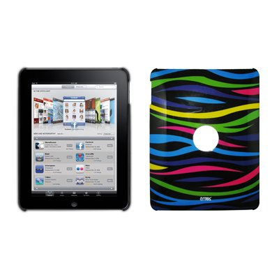 EMPIRE Rainbow Zebra Design Rückseite Snap On Cover Hard Case für Apple iPad -