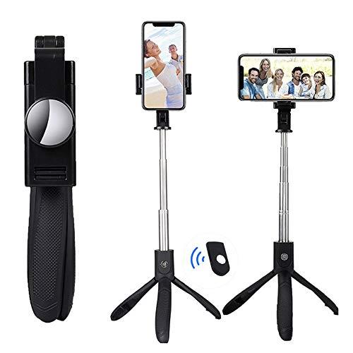 CWWHY Selfie Stick Stativ, 3 in 1 Ausziehbarer Selfie Stick Gratis Mit Kabelloser Bluetooth Fernbedienung 360 ° Drehung, Für iPhone/Android Geräte Mit Einem Bildschirm
