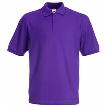 Fruit of the Loom Kids Pique Polo Shirt Purple 3-4
