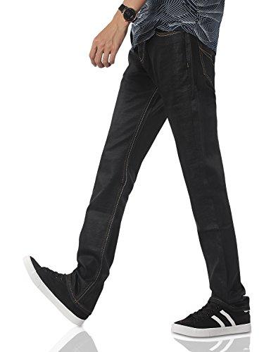 Demon&Hunter Hommes jambe droite Noir Jeans S8L24 Noir
