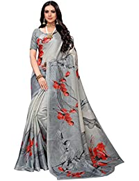 Anni Designer Women's Grey Color Pure Khadi Silk Saree With Blouse Piece (ASUR Grey_Free Size)