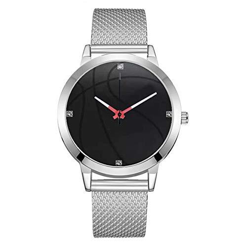 eit Geschäft Quarz Uhren Basketball Muster Zifferblatt Mesh-Gürtel Armbanduhr (B) ()