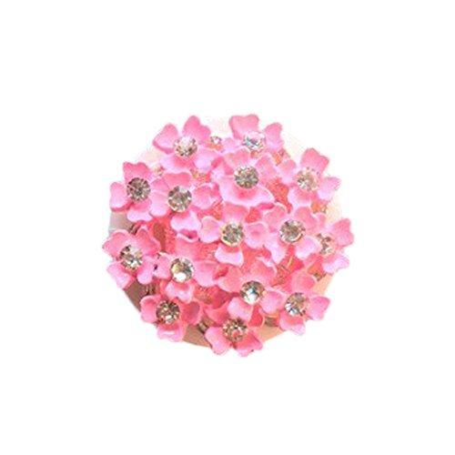 Beudylihy Home Decor Diamant Kamelie Vent Clip, 2 stücke Kamelie Auto Parfüm Lufterfrischer Clip Diamant Blume Auto Air Vent Parfüm Clamp Sonnenblumenduft Duft-Clip Blumen-Design -