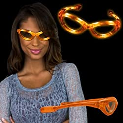 Flashing Orange LED Sunglasses