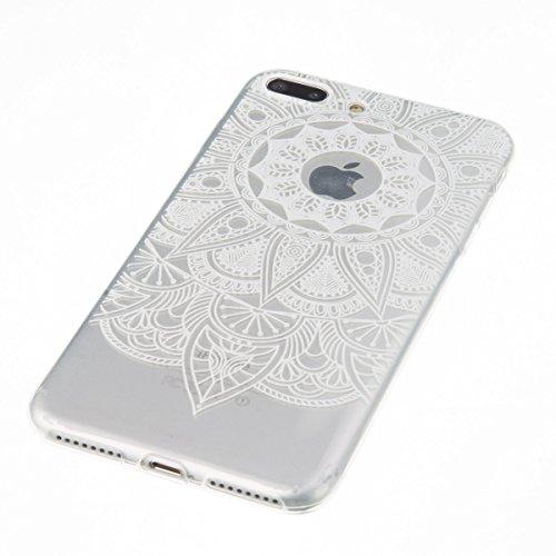 iPhone 7 Plus Hülle, iPhone 7 Plus Case, Felfy iPhone 7 Plus Fashion Luxus Ultra Slim Galvanotechnik Soft Gel TPU Silikon Gel Schmetterling Blumen Gold Muster Glitter Bling Schein Glänzenden Kristall  Sonnenblumen Weiße