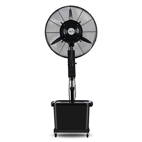 Ventilador de pedestal con humidificador Ventilador de pulverización industrial Agregar agua Ventilador...