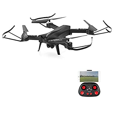 POBO RC Drone Foldable WiFi FPV VR Quadcopter with 2MP HD Camera 2.4Ghz 6 Axis Gyro 4CH Remote Control Helicopter by POBO