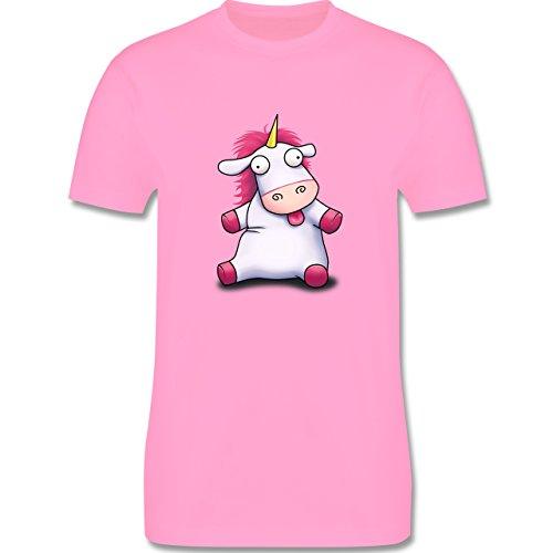 Comic Shirts - Süßes, flauschiges Einhorn - Herren Premium T-Shirt Rosa