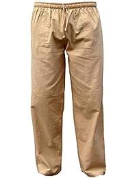 PANASIAM Baumwollhose 'K' aus wohlig weicher, 100% Reiner Naturbaumwolle, mit Tasche, Tunnelzug und Gummibund