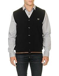 Fred Perry Men's Men's Vest In Black Color