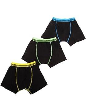 Jungen Boxer Shorts mit Kontrast Bund (3er Packung)