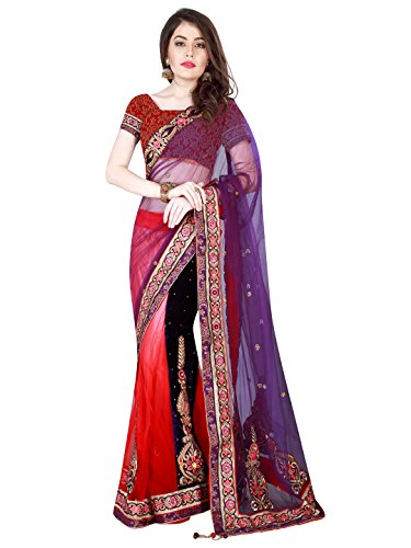 Mahotsav Net Saree (8528_Purple, Pink)  available at amazon for Rs.1899