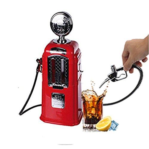 WAOBE Bier Dispenser Liquor Pump Tankstelle Geformte Doppel Düsen Kreative Personalisierte Getränk Getränkeautomaten Bar Butler Werkzeuge,Red (York Bar In Bier New)