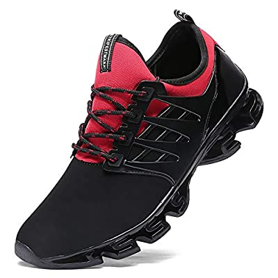FUSHITON Mens Trainers Casual Walking Shoe Blade Sport Sneakers Breathable Mesh Cross Trainning Trail Running Shoes Men
