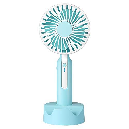 Ventilatore Portatile, MANLI Mini Ventilatore Portatile a Batteria Ricaricabile USB con 3 Velocità Piccolo Ventilatore da Tavolo Scrivania Silenzioso per Casa Ufficio Viaggio Spiaggia Bambini
