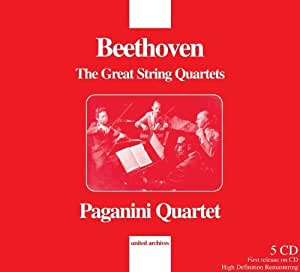 Beethoven: The Beethoven: Great String Quartets (Paganini Quartet) by Paganini Quartet (2012) Audio CD