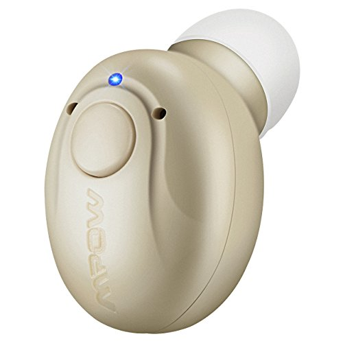 【Edición Limitada】Mini Auricular Bluetooth,Mpow Invisible Auricular Inalámbrico con Microfono y Cancelación de Ruido,Bluetooth 4.1 con USB Magnéticos Manos Libres para coche iPhone Samsung Huawei