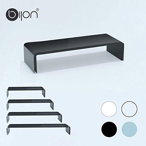 glasshop24 bijon® TV Glasaufsatz Monitor Erhöhung (B/T/H) 800x300x130mm - schwarz