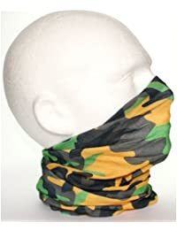 TC-Accessories Yellow Black Green Grey Camouflage 12 in 1 snood tube scarf