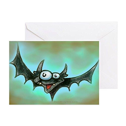 CafePress - Batty 11 x 17 - Grußkarte (10 Stück), Notizkarte mit blanko innen, Geburtstagskarte, matt -