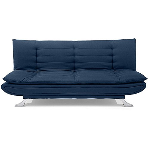 FabHomeDecor Brio FHD313 Three Seater Sofa Cum Bed (DarkBlue)