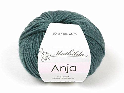 Mathilda Anja Strickgarn, Wolle, Lagune 11 x 10 x 6 cm -
