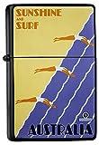 LEotiE SINCE 2004 Feuerzeug Schwarz Benzinfeuerzeug Sturmfeuerzeug Metallfeuerzeug Australien Surfen