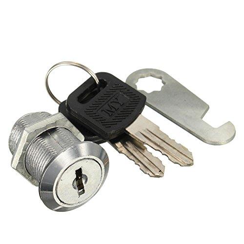 Hebelschloss Zylinderschloss Briefkastenschloss Schrankschloss Schloss mit 2 Schlüssel 30mm