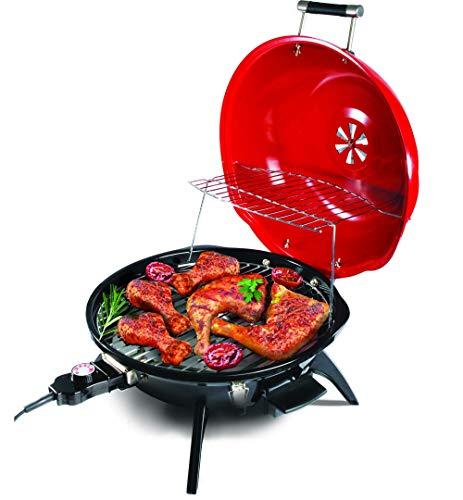 Metrox Elektrischer Kugelgrill BBQ zum Grillen und Braten für drinnen und draußen mit Ablagerost ME-1569