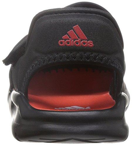 adidas, Jungen Zehentrenner , schwarz - schwarz - Größe: 33 -
