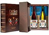CAMINO DE CABRAS Estuche regalo - Producto Gourmet - Vino blanco - Godello Valdeorras + Vino tinto Crianza - Valdeorras - Mencía - Vino bueno para regalo - 2 botellas x 75cl