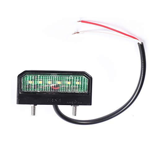 AOHEWEI Helle LED Kennzeichenbeleuchtung Nummernschildbeleuchtung Wasserdichte Heckleuchte 12~24V Für LKW Anhänger RV Auto oder Andere Nutzfahrzeuge (6 LED-Chips)
