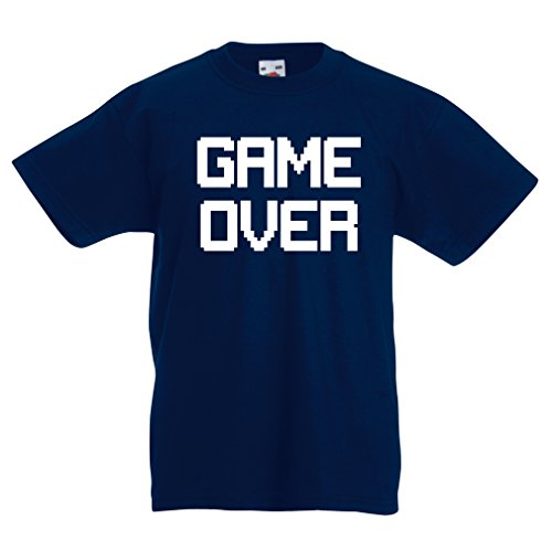 funny-t-shirts-for-kids-game-over-vintage-t-shirts-funny-gamer-gifts-gamer-shirt-9-11-years-dark-blu