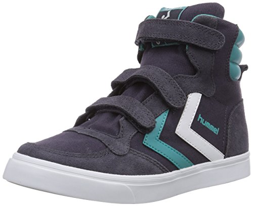 Hummel Hummel Stadil Jr Canvas Hi, Baskets Mixte Enfant Gris (Nine Iron 2358)