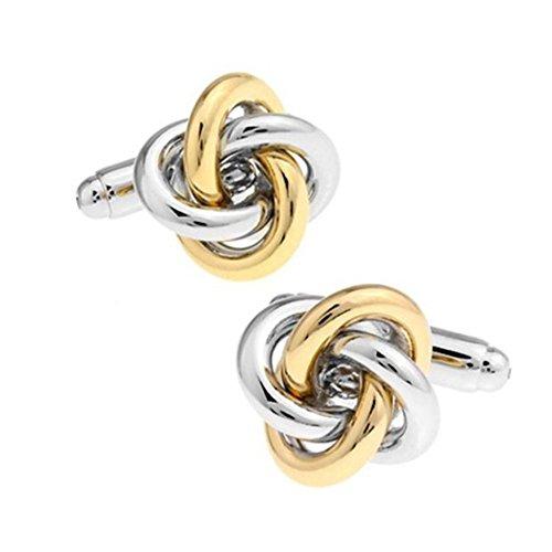 Ss Knot Silver & Gold Copper Cufflinks For Men SS64
