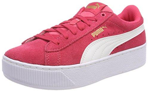 Puma Unisex-Kinder Vikky Platform Jr Sneaker, Paradise Pink White, 37 EU - Basketball-schuhe Puma Kinder