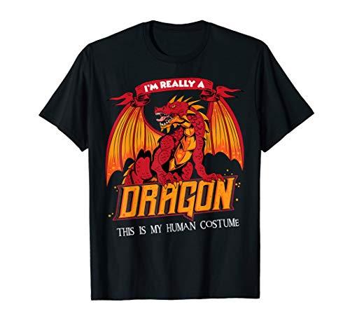 Lustiges Halloween Unheimlicher Drache Kostüm T-Shirt (Für Halloween-kostüme Unheimliche Frauen)