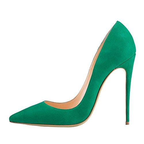 MERUMOTE , Chaussures à talon fin femme Vert