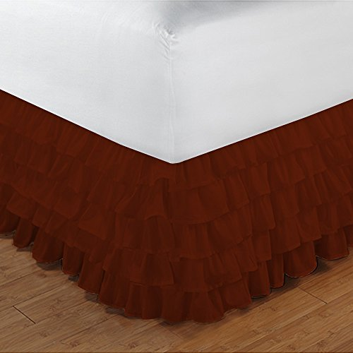 royallinens-uk-single-300tc-100-egyptian-cotton-brick-red-solid-elegant-finish-1pcs-multi-ruffle-bed